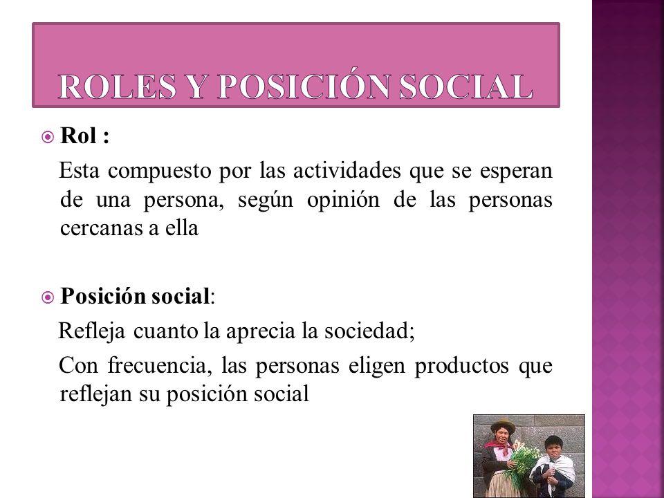 Roles y posición social