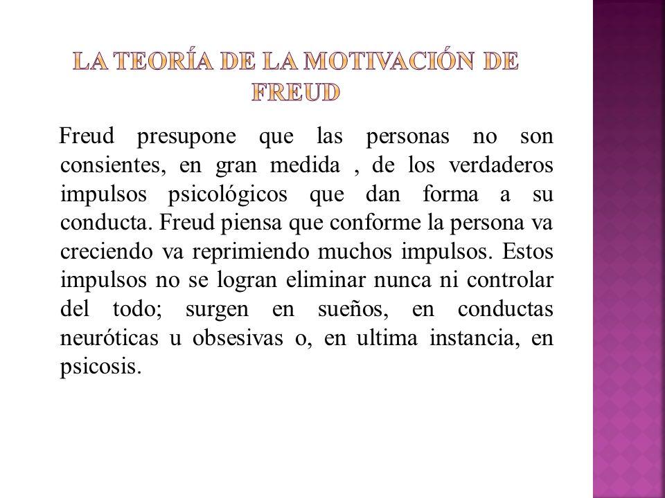 La teoría de la motivación de freud