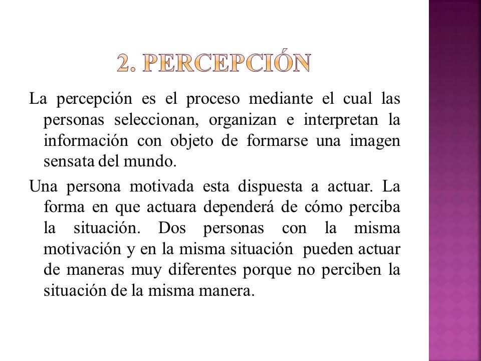 2. percepción