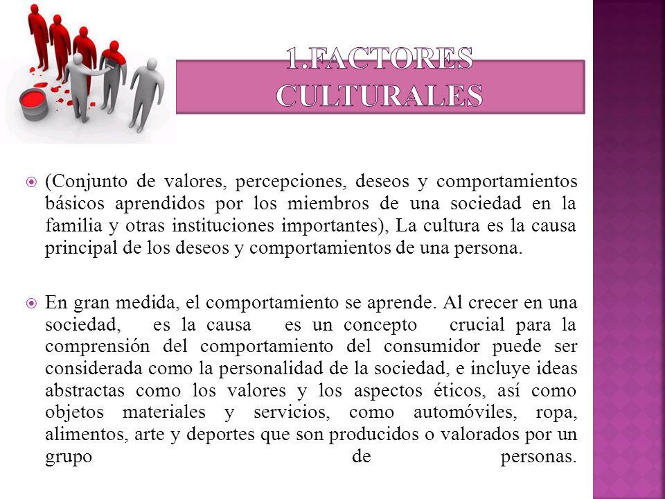 1.Factores culturales