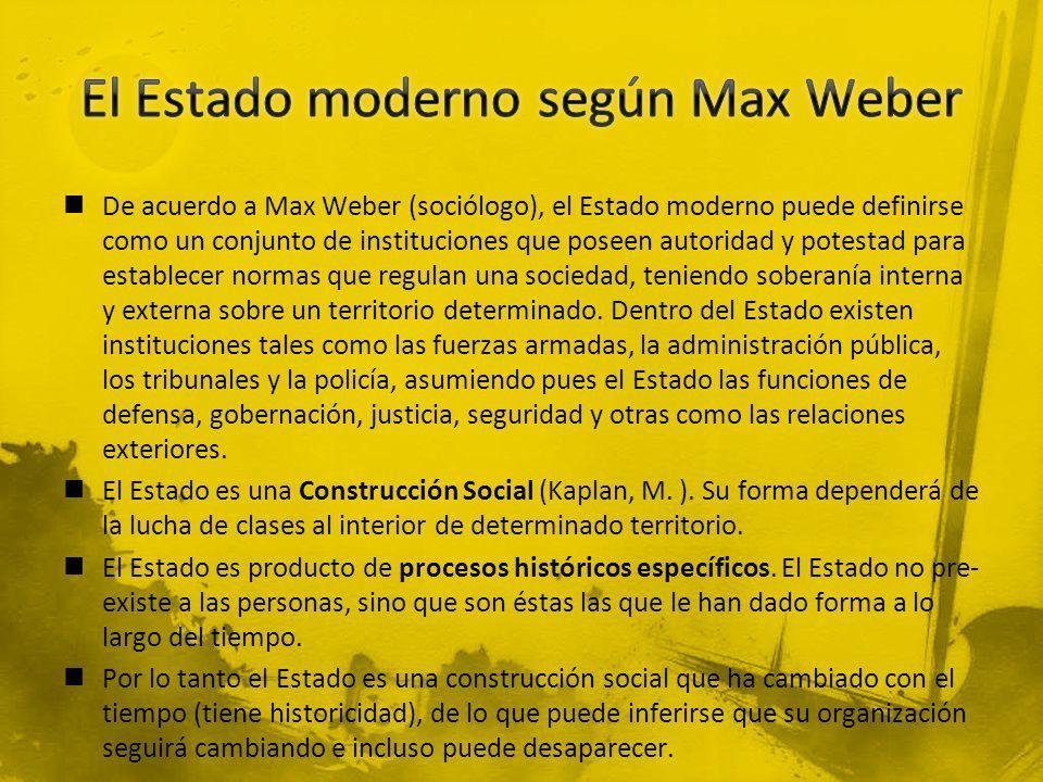 El Estado moderno según Max Weber