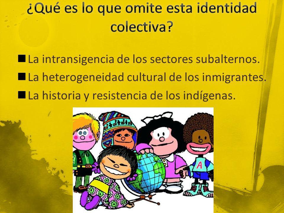 ¿Qué es lo que omite esta identidad colectiva