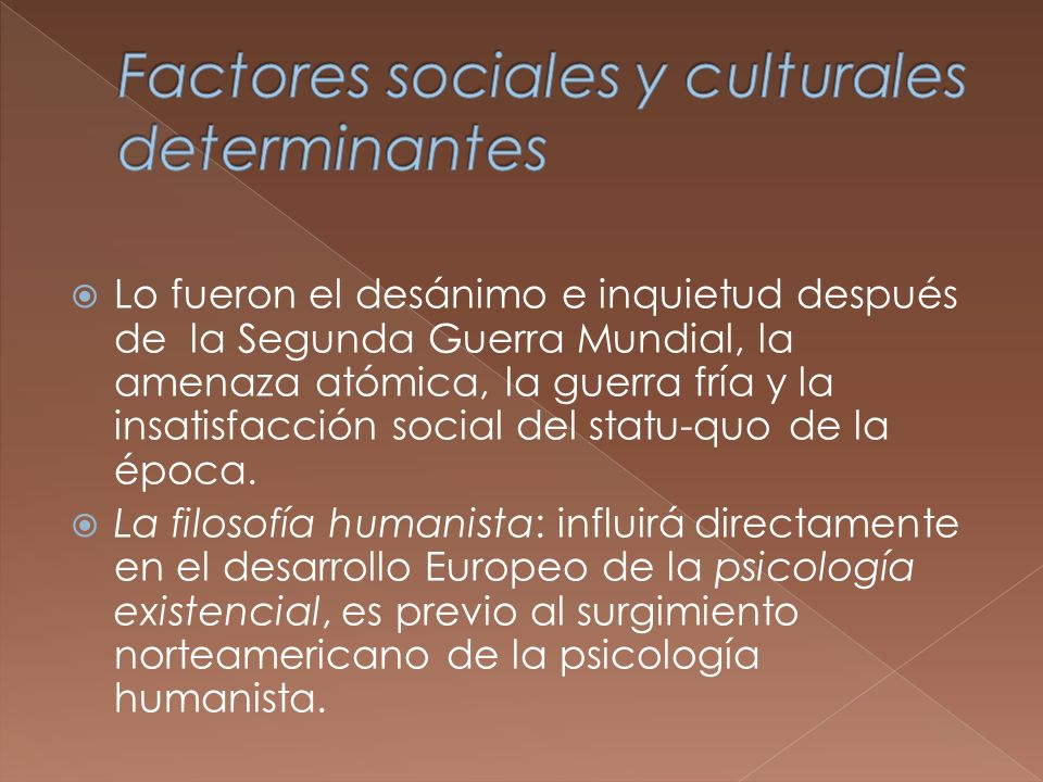 Factores sociales y culturales determinantes