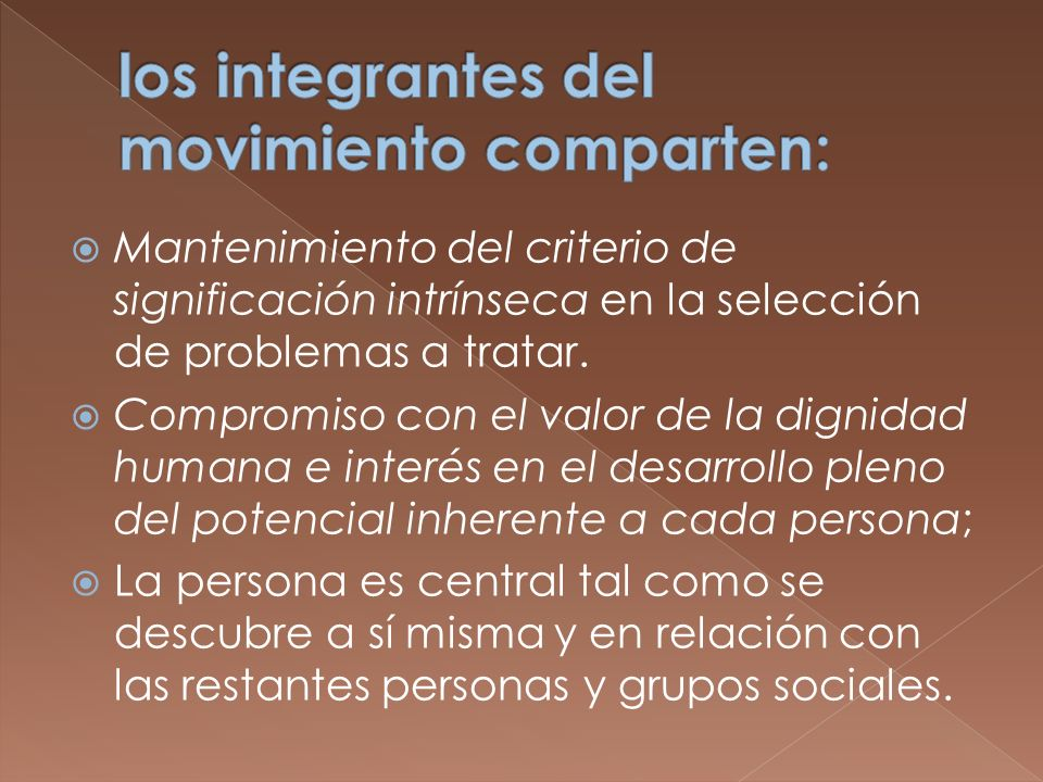 los integrantes del movimiento comparten: