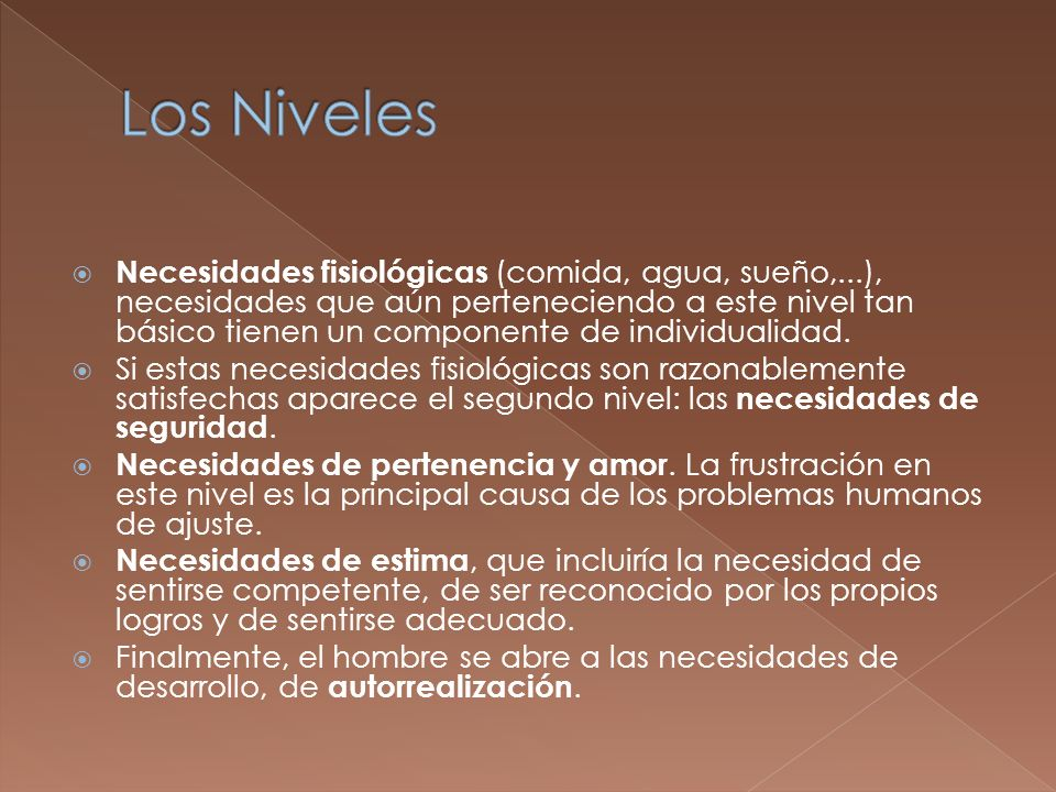 Los Niveles