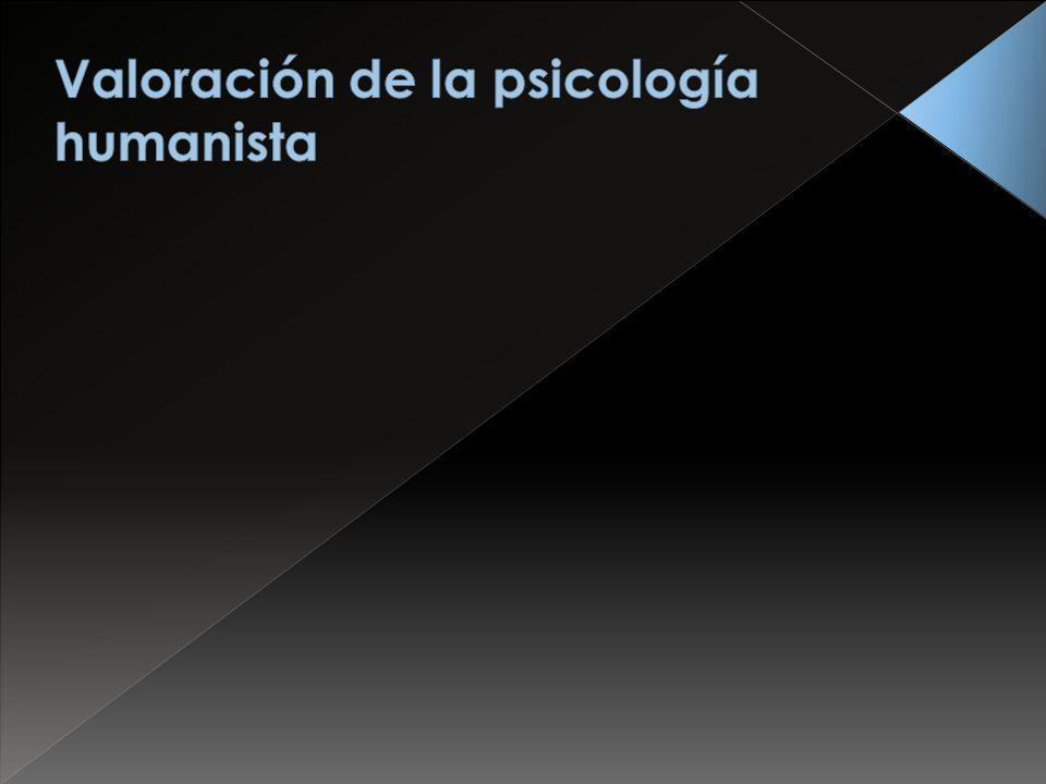 Valoración de la psicología humanista