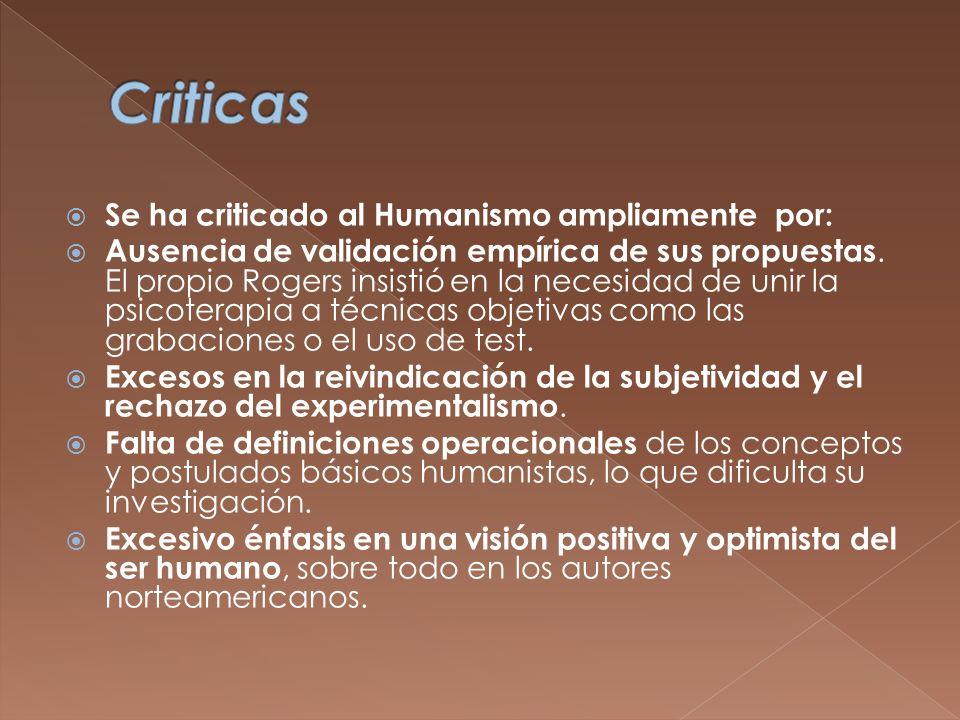 Criticas Se ha criticado al Humanismo ampliamente por: