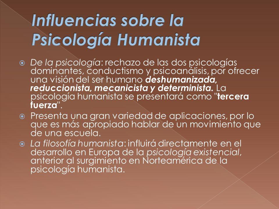 Influencias sobre la Psicología Humanista