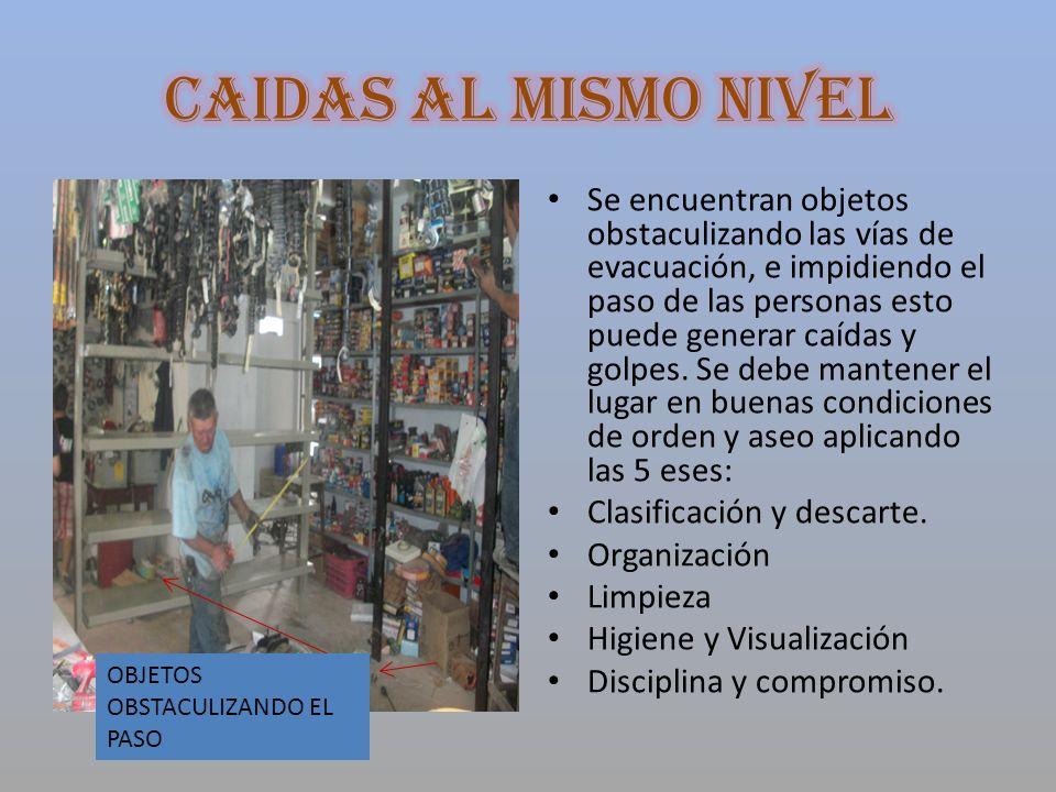 CAIDAS AL MISMO NIVEL