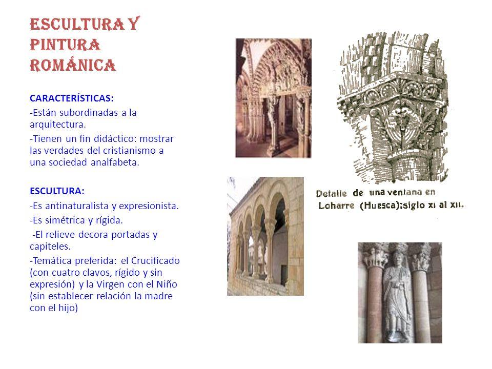 ESCULTURA Y PINTURA ROMÁNICA