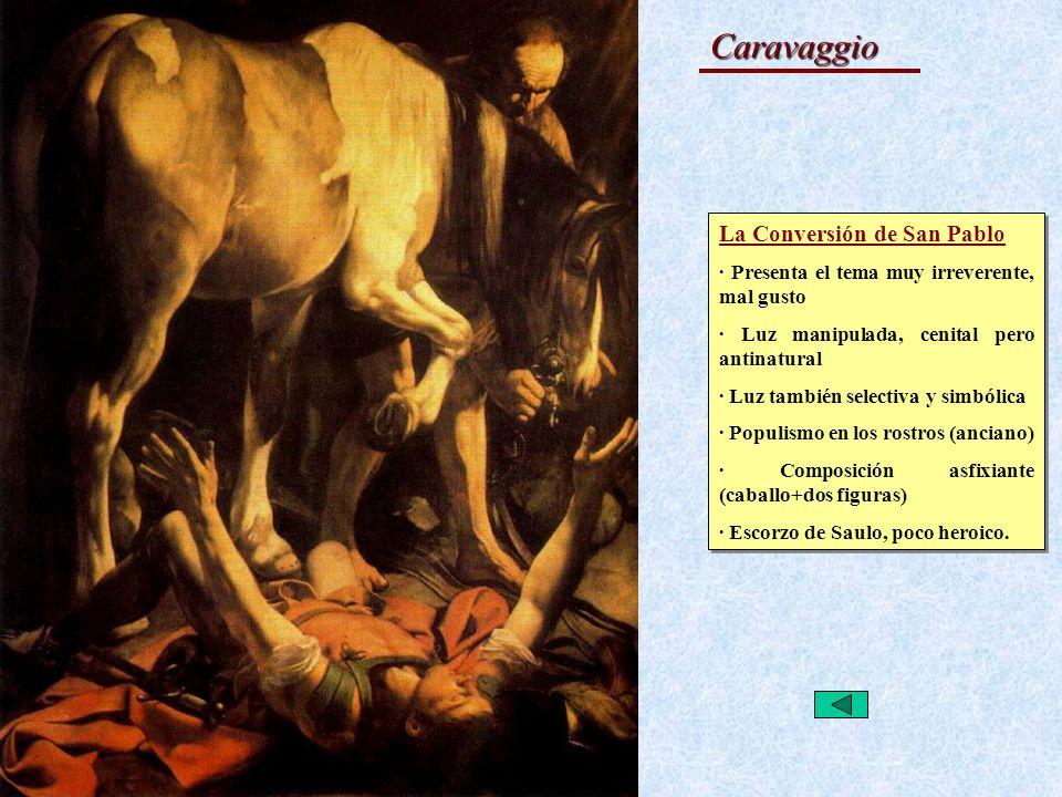 Caravaggio La Conversión de San Pablo