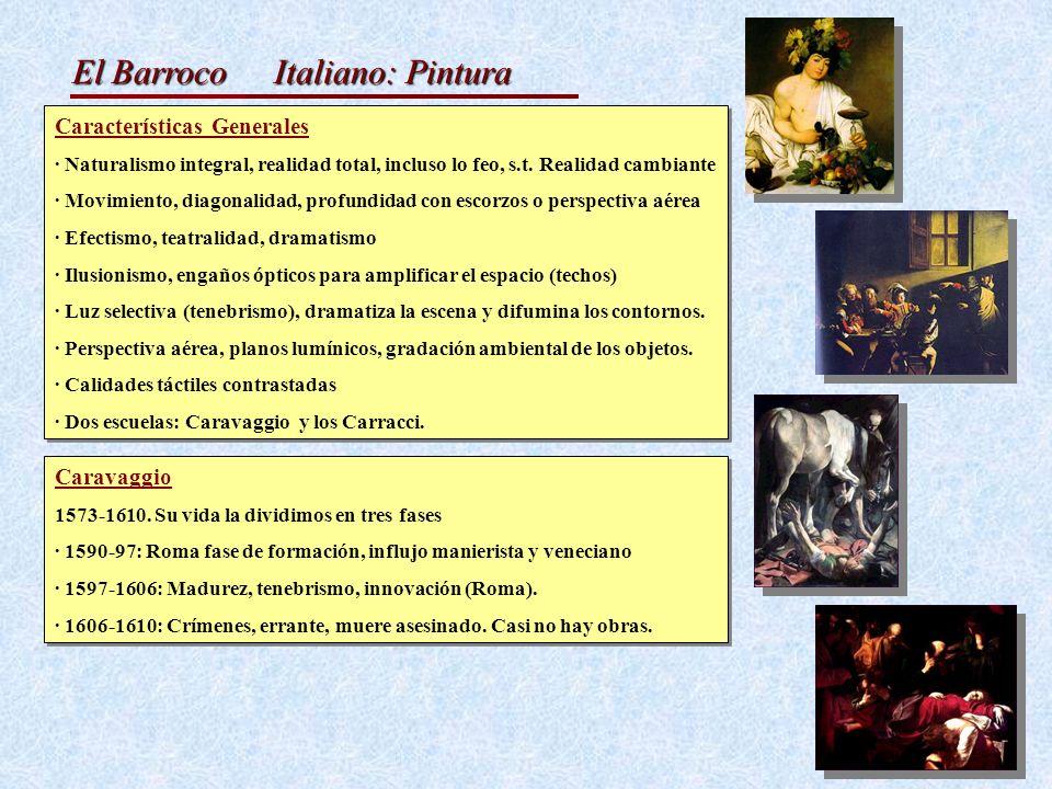 Italiano: Pintura Características Generales Caravaggio