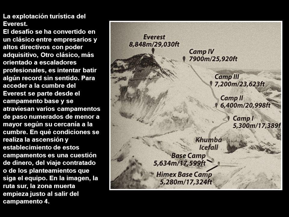 La explotación turística del Everest.