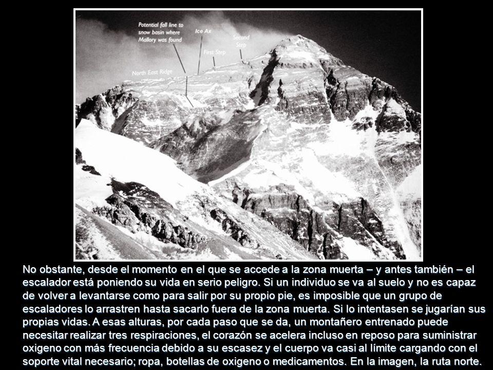 No obstante, desde el momento en el que se accede a la zona muerta – y antes también – el escalador está poniendo su vida en serio peligro.