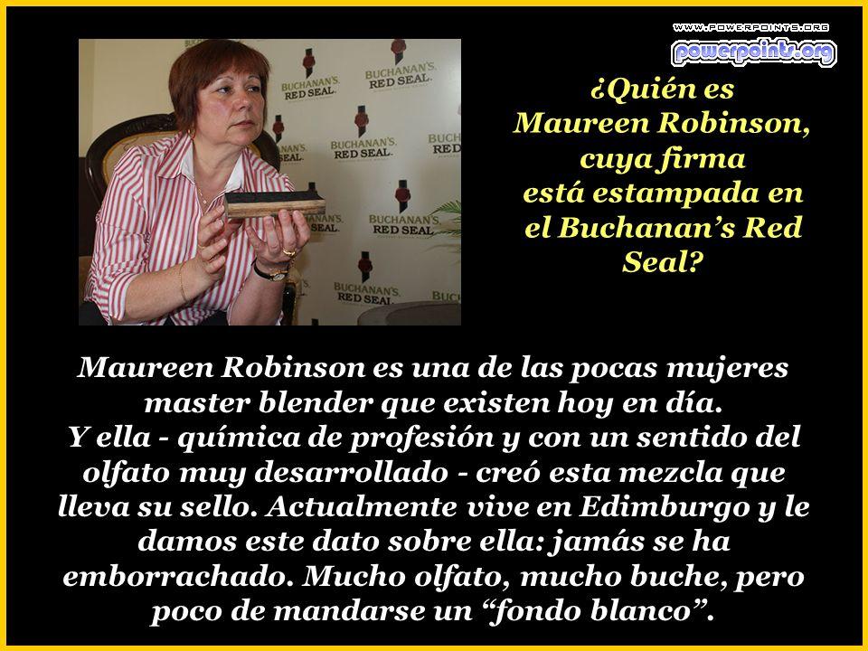 ¿Quién es Maureen Robinson, cuya firma está estampada en el Buchanan's Red Seal