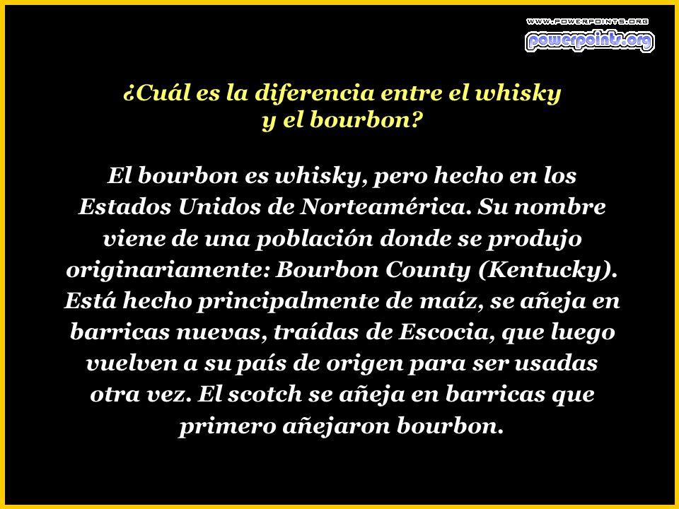 ¿Cuál es la diferencia entre el whisky y el bourbon