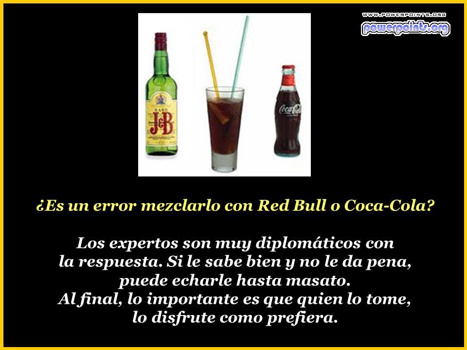 ¿Es un error mezclarlo con Red Bull o Coca-Cola