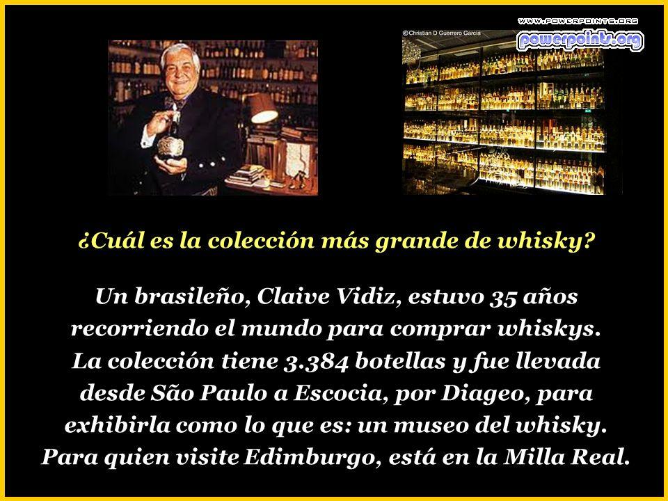 ¿Cuál es la colección más grande de whisky