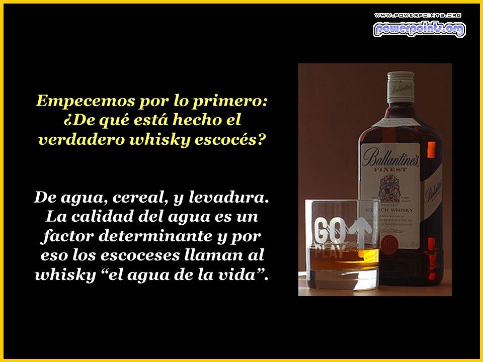Empecemos por lo primero: ¿De qué está hecho el verdadero whisky escocés