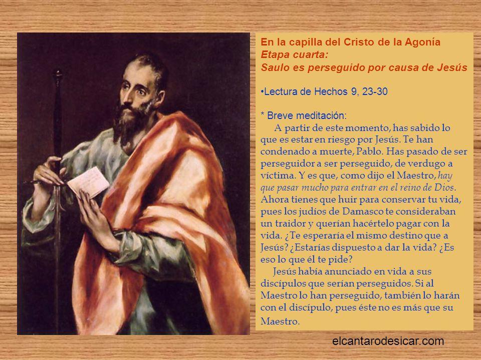 elcantarodesicar.com En la capilla del Cristo de la Agonía
