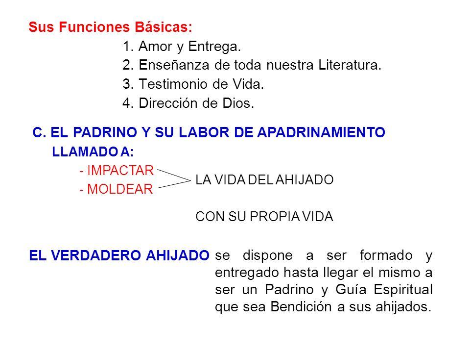 C. EL PADRINO Y SU LABOR DE APADRINAMIENTO