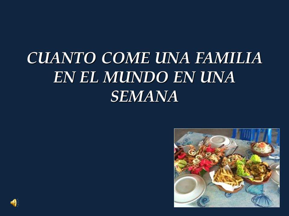 CUANTO COME UNA FAMILIA EN EL MUNDO EN UNA SEMANA