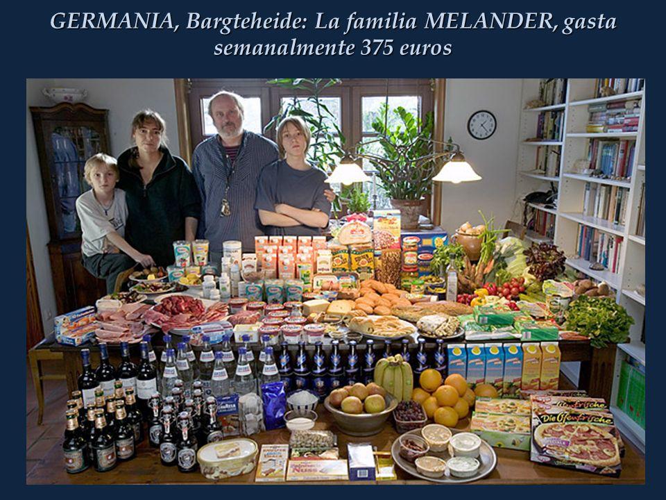 GERMANIA, Bargteheide: La familia MELANDER, gasta semanalmente 375 euros