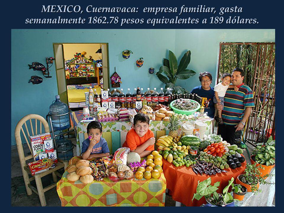 MEXICO, Cuernavaca: empresa familiar, gasta semanalmente 1862