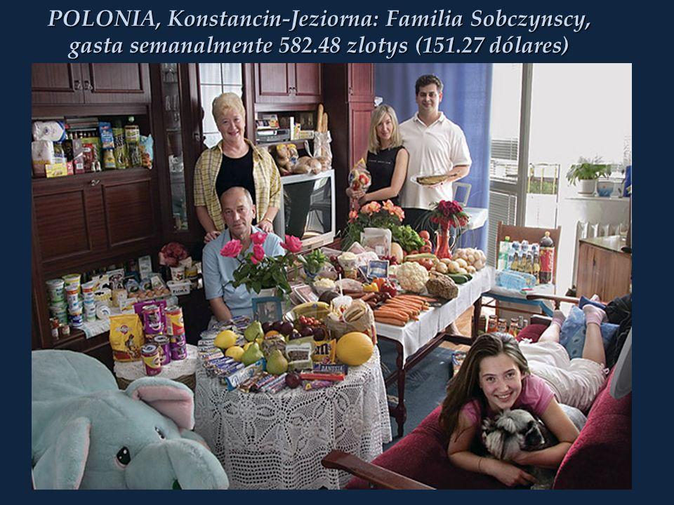 POLONIA, Konstancin-Jeziorna: Familia Sobczynscy, gasta semanalmente 582.48 zlotys (151.27 dólares)