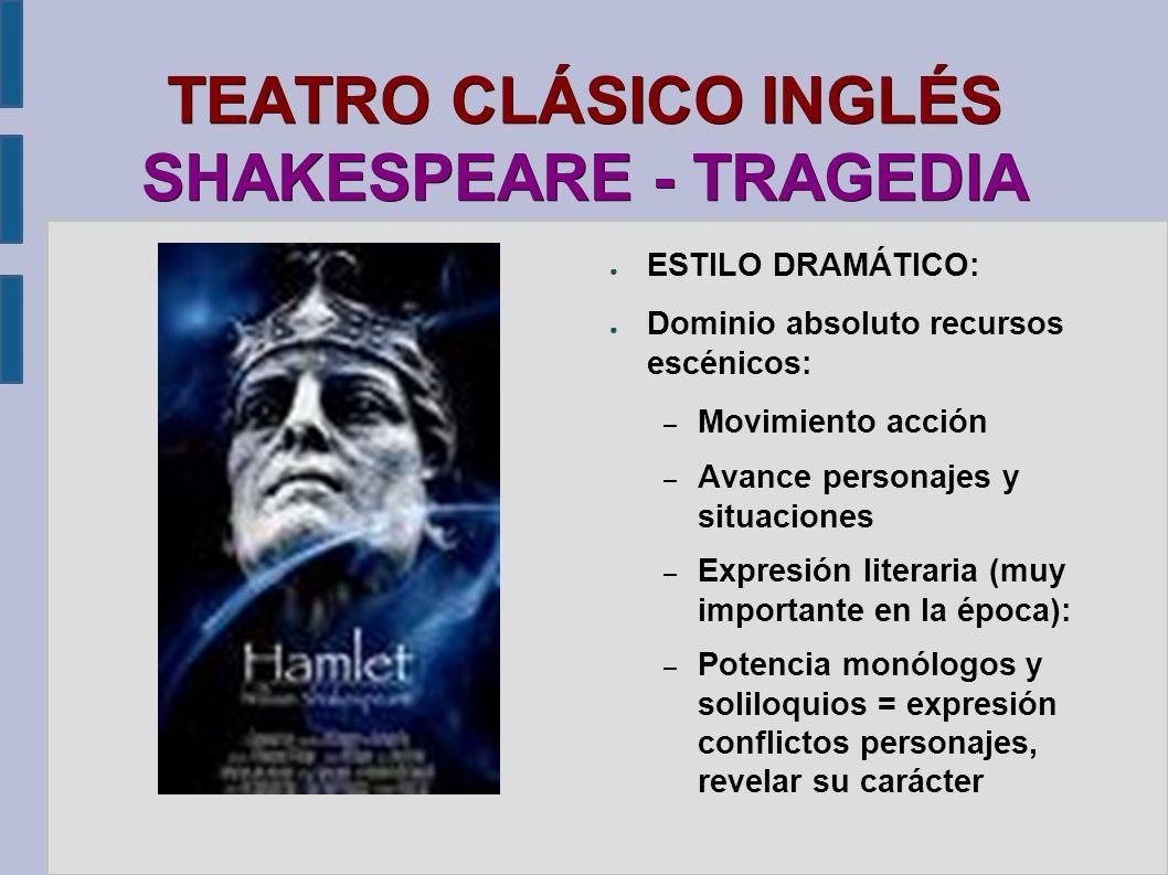 TEATRO CLÁSICO INGLÉS SHAKESPEARE - TRAGEDIA