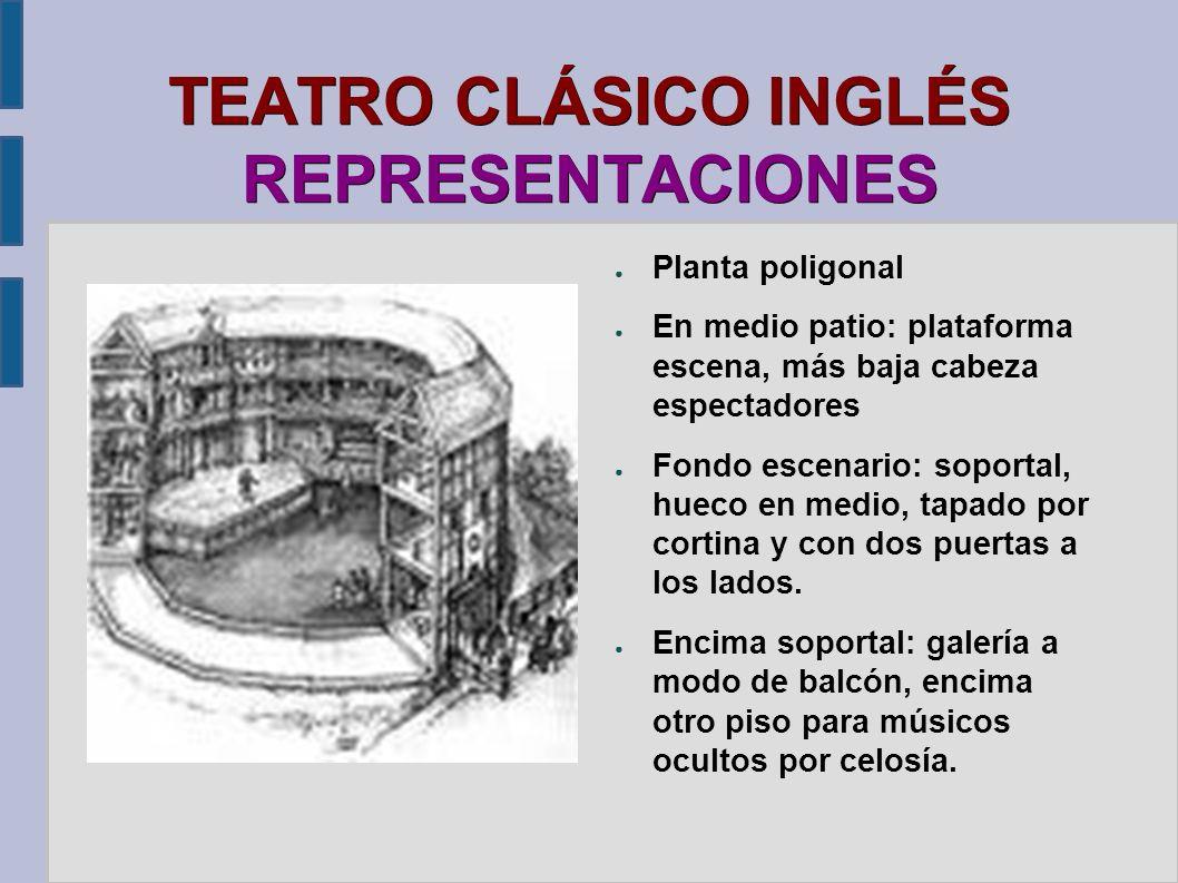 TEATRO CLÁSICO INGLÉS REPRESENTACIONES