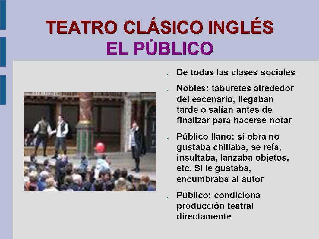 TEATRO CLÁSICO INGLÉS EL PÚBLICO