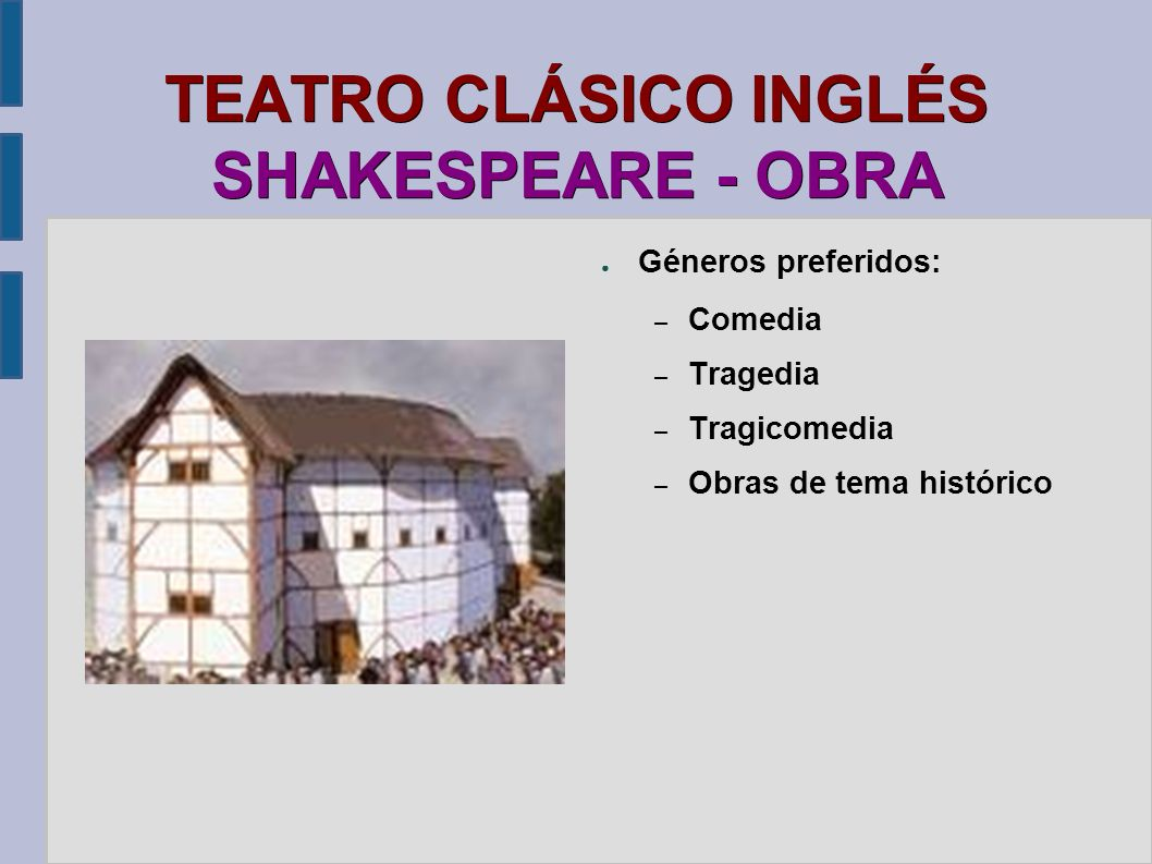 TEATRO CLÁSICO INGLÉS SHAKESPEARE - OBRA