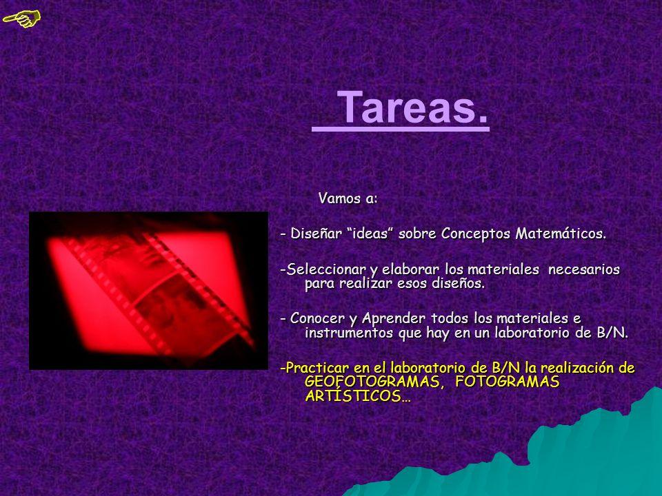 Tareas. - Diseñar ideas sobre Conceptos Matemáticos.