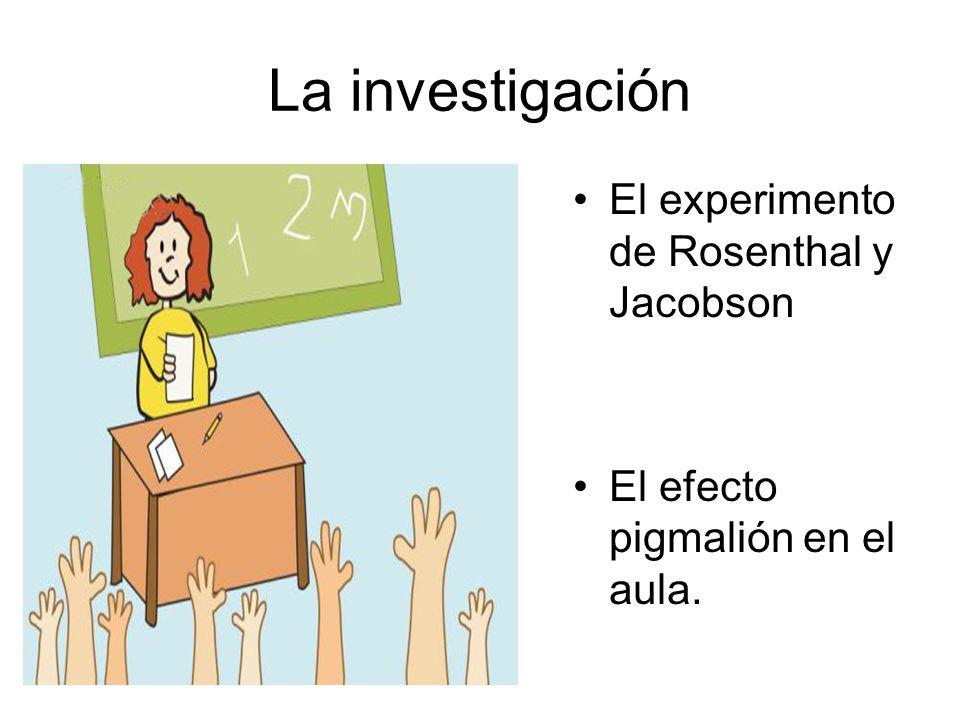 La investigación El experimento de Rosenthal y Jacobson