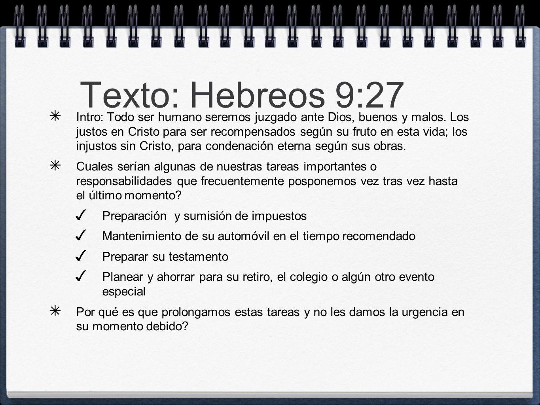 Texto: Hebreos 9:27