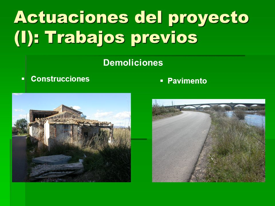 Actuaciones del proyecto (I): Trabajos previos