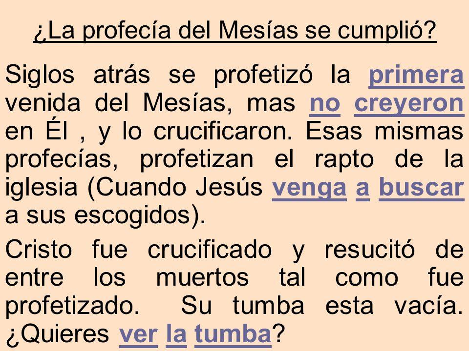¿La profecía del Mesías se cumplió