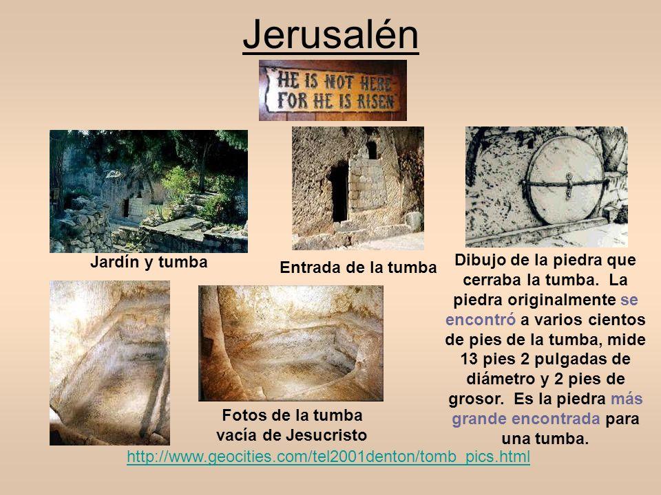 Fotos de la tumba vacía de Jesucristo