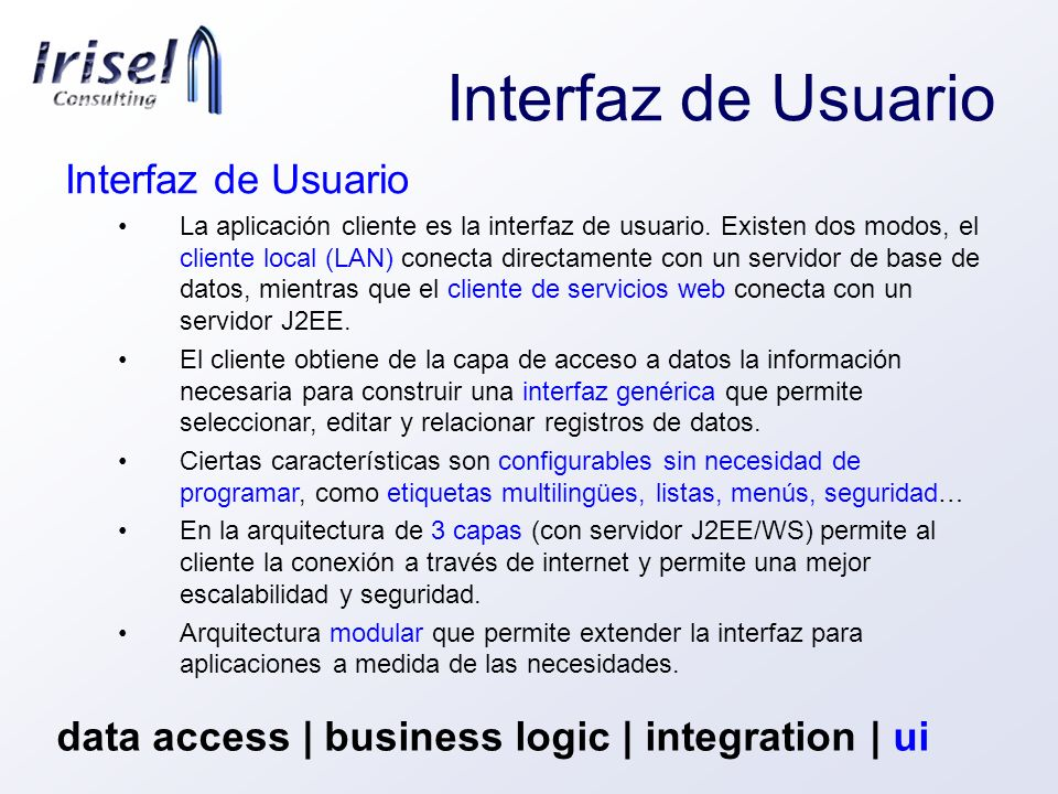 Interfaz de Usuario Interfaz de Usuario