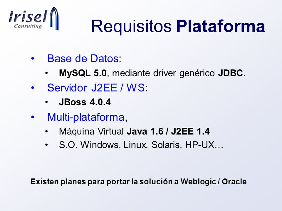 Requisitos Plataforma