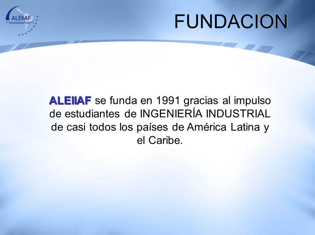 FUNDACION ALEIIAF se funda en 1991 gracias al impulso de estudiantes de INGENIERÍA INDUSTRIAL de casi todos los países de América Latina y el Caribe.