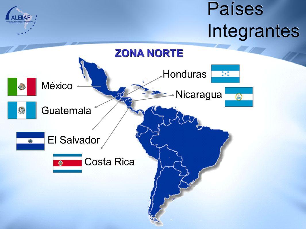 Países Integrantes ZONA NORTE Honduras México Nicaragua Guatemala