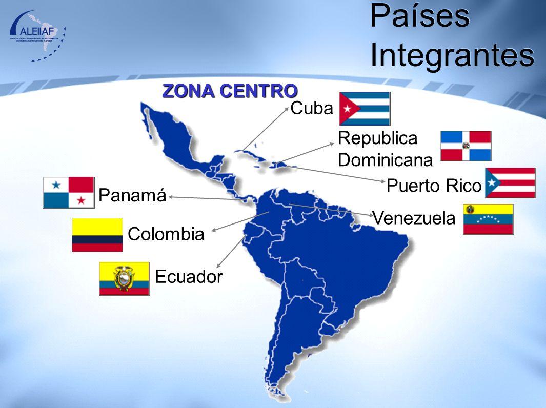 Países Integrantes ZONA CENTRO Cuba Republica Dominicana Puerto Rico