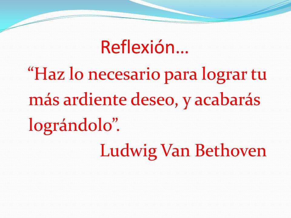 Reflexión… más ardiente deseo, y acabarás lográndolo .