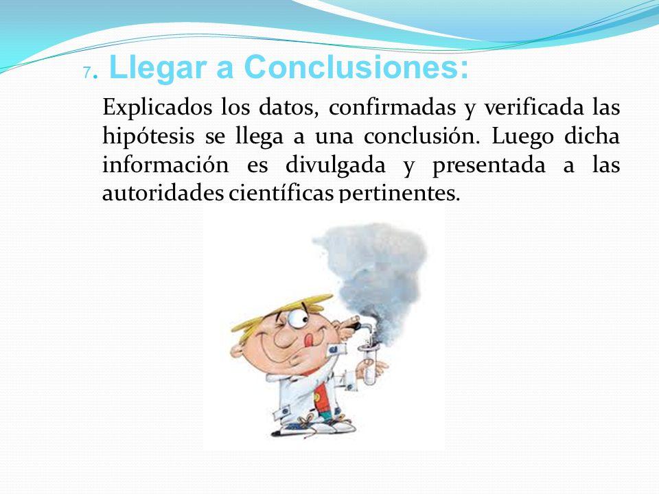 7. Llegar a Conclusiones: