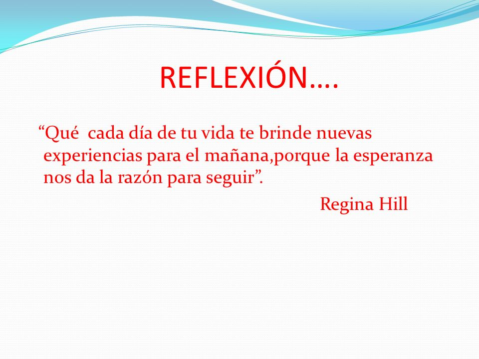 REFLEXIÓN….