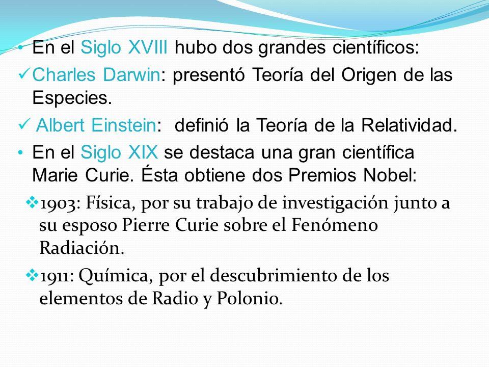 En el Siglo XVIII hubo dos grandes científicos: