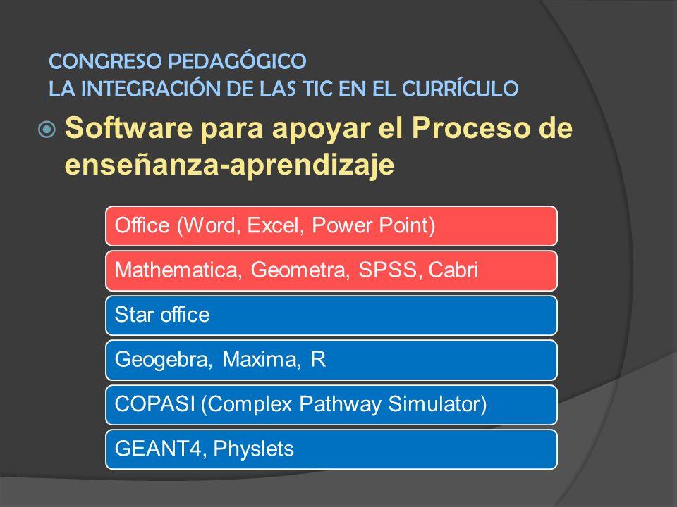 Software para apoyar el Proceso de enseñanza-aprendizaje