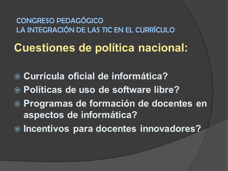 Cuestiones de política nacional: